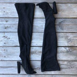 Steve Madden Kimmi Peep Toe Thigh High Boots